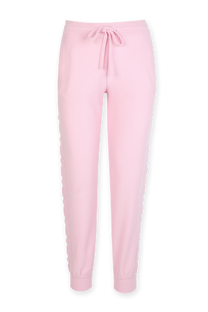 Greca Wool and Cashmere Sweatpants in Pink VERSACE
