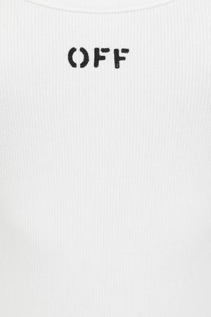 Logo Detail Tank Dress in White OFF WHITE