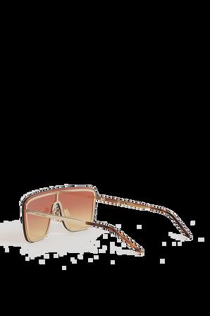 Shield Sunglasses in Gold SAINT LAURENT