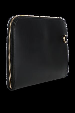 Zipped Calfskin Clutch Travel Bag in Black DOLCE & GABBANA