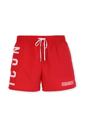 Icon Swim Trunks in Red DSQUARED2