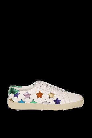 SL06 Court Star Sneakers in White SAINT LAURENT