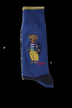 2 Pack Mid Socks Polo in Blue POLO RALPH LAUREN