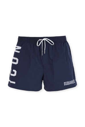 Icon Swim Trunks in Blue DSQUARED2
