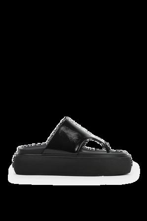 Platform Flip Flops in Black THE ATTICO