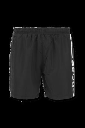 Logo Swim Shorts in Black BOSS