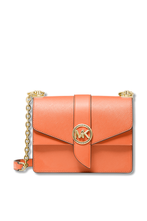Greenwich Small Saffiano Leather Crossbody Bag In Peach MICHAEL KORS