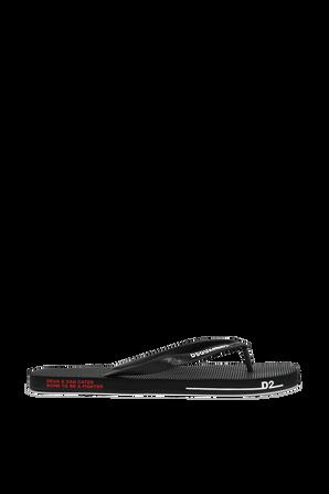 Logo Flip Flops in Black DSQUARED2