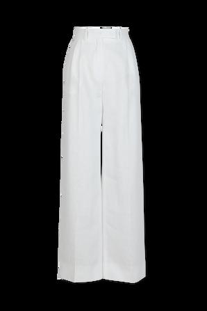 White Linen Pants FENDI