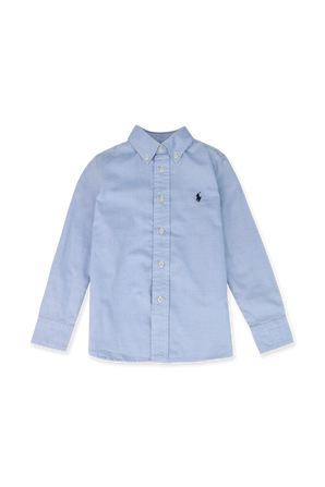 גילאי 5-7 חולצת כפתורים בתכלת POLO RALPH LAUREN KIDS
