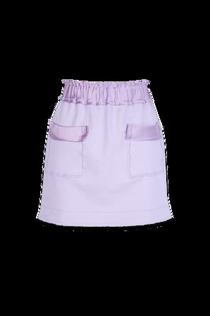 Organic Cotton Mini Skirt in Purple AZ FACTORY