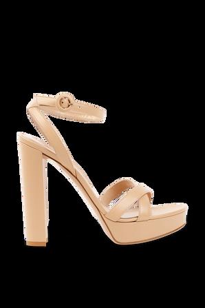 Poppy Sandals in Nude GIANVITO ROSSI