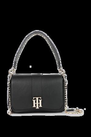 Black Bag With Monogram Lock TOMMY HILFIGER