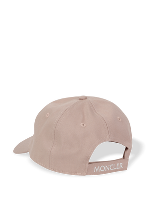 Classic Logo Baseball Cap in Pink MONCLER