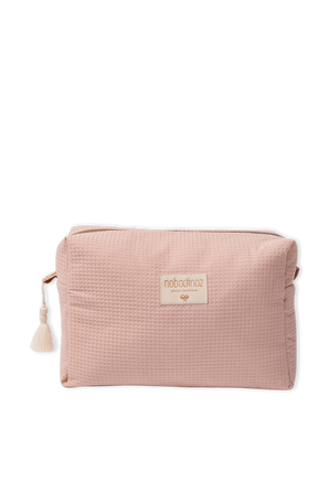Honeycomb Organic Cosmetic Bag in Pink NOBODINOZ