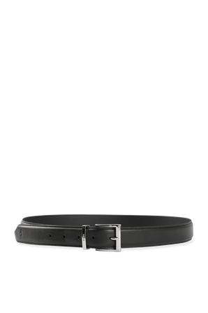 Smooth Leather Dress Belt in Black POLO RALPH LAUREN