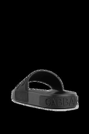 Logo Slides in Black DOLCE & GABBANA