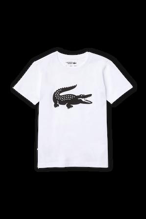 גילאי 2-16 חולצת טי בלבן עם לוגו תנין גדול LACOSTE KIDS