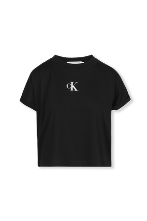 Back Urban Logo Crop T-Shirt in Black CALVIN KLEIN