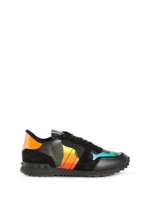Rockrunner Sneakers in Multicolor Camo VALENTINO