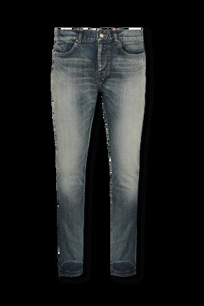 Skinny Medium Waist Jeans In Light Blue SAINT LAURENT