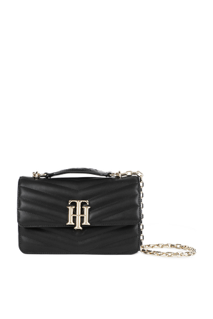 Crossover Quilted Bag in Black TOMMY HILFIGER