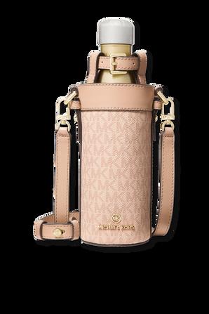Large Logo Water Bottle Crossbody Pink Monogram Bag MICHAEL KORS