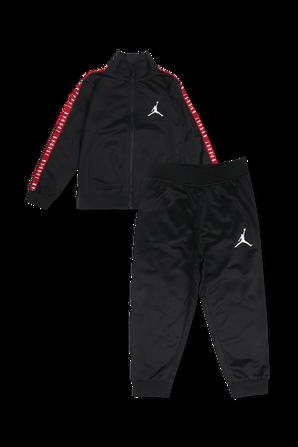 גילאי 2-4 סט סווטישרט מרוכסן ומכנסיים עם לוגו בצבע שחור JORDAN