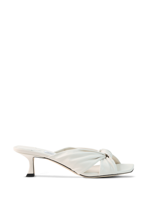 Avenue Leather Sandals in White JIMMY CHOO