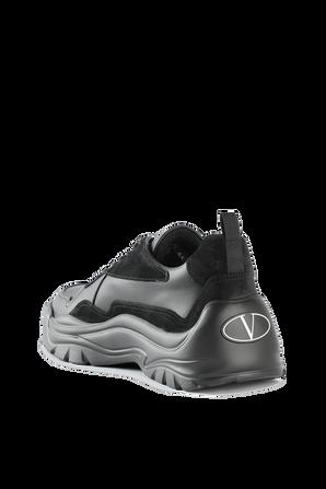 Black Leather Gumboy Sneakers VALENTINO