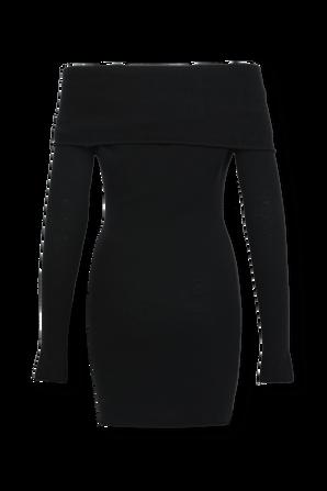 Wool Classic Mini Dress in Black THE ATTICO