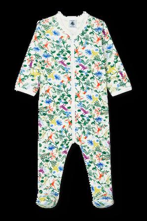 גילאי 1-24 חודשים אוברול שינה בהדפס ג'ונגל PETIT BATEAU