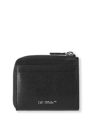 Diag Wallet in Black and White OFF WHITE