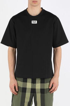White Tag Logo Tshirt in Black DOLCE & GABBANA