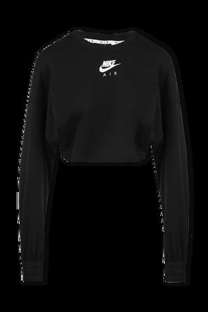 Nike Air Cropped Fleece Crewneck in Black NIKE