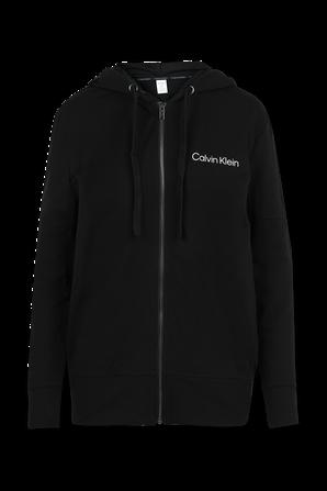 סווטשירט מרוכסן עם לוגו בצבע שחור CALVIN KLEIN