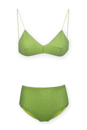 Lumiere High Two Piece Swimsuit in Green OSEREE