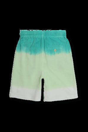 גילאי 8-16 מכנסיים קצרים טאי דאי בגווני ירוק ולבן POLO RALPH LAUREN KIDS