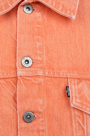Cropped Denim Jacket in Orange LEVI`S