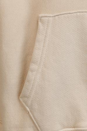 Cropped Hoodie in Cream LES TIEN