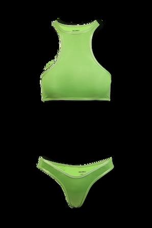 Matte Green Bikini Set THE ATTICO