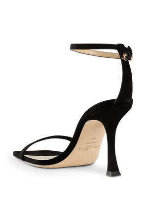 Marin 90 Sandal in Black Suede JIMMY CHOO