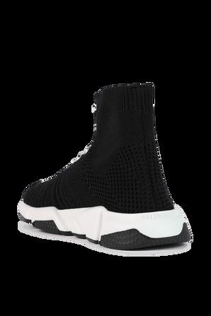 גילאי 23-32 נעלי גרב בשחור ולבן עם שרוכים BALENCIAGA KIDS