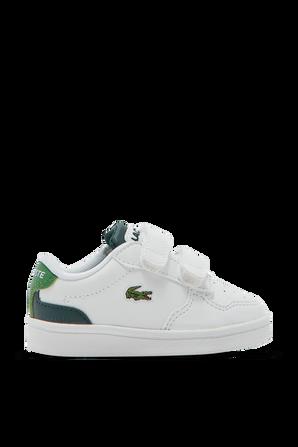 מידות 21-27 נעלי סניקרס לבנות עם לוגו LACOSTE KIDS