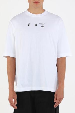 חולצה עם הדפס גרפי בצבע לבן OFF WHITE