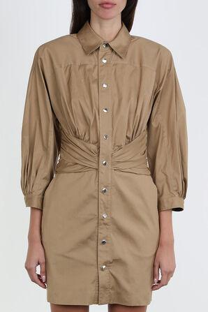 Button Down Mini Dress in Brown DSQUARED2