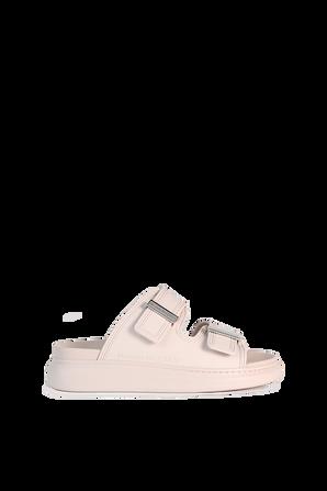 Slide Sandals in Pink ALEXANDER MCQUEEN