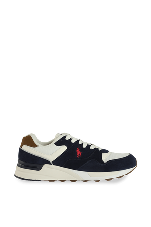 Trackstar Pony Sneakers in Blue and White POLO RALPH LAUREN