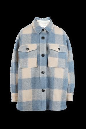 Harveli Coat in Blue ISABEL MARANT