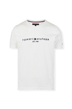 Organic Cotton Flag Tee in White TOMMY HILFIGER